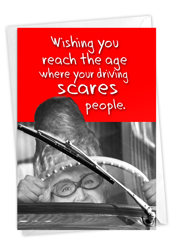 Scary Driver: Hilarious Birthday Greeting Card