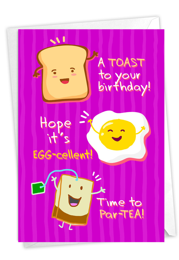 Mixed Puns: Funny Birthday Paper Greeting Card