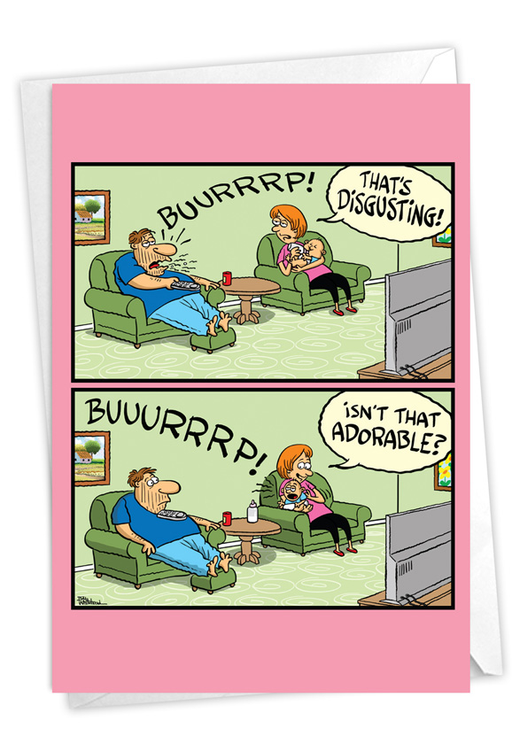 Different Burps: Hilarious Baby Printed Card