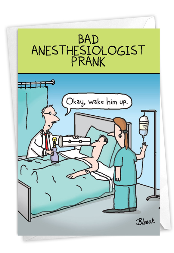 Sick Prank: Humorous Get Well Paper Card