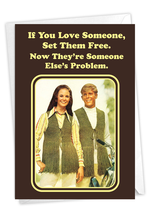 Set Them Free: Humorous Divorce Card
