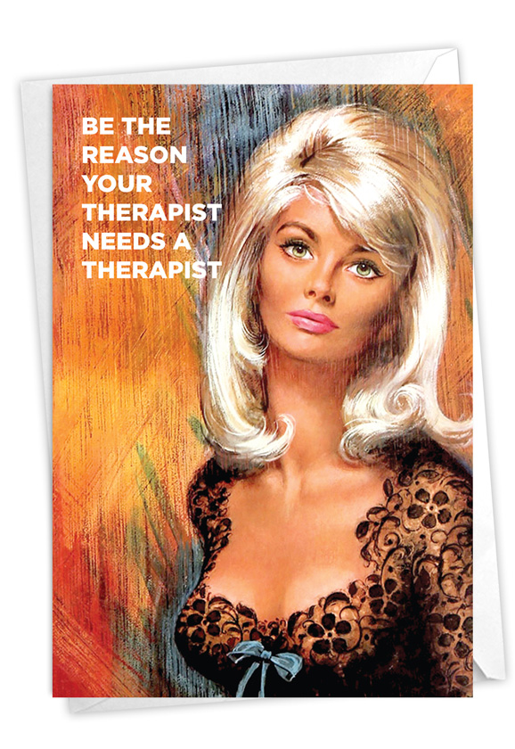 Therapist's Therapist: Hysterical Birthday Greeting Card
