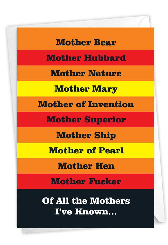 Many Mothers: Hilarious Birthday Mother Printed Card