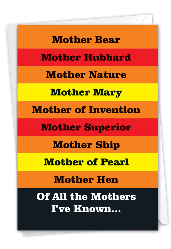 Many Mothers: Humorous Mother's Day Paper Greeting Card