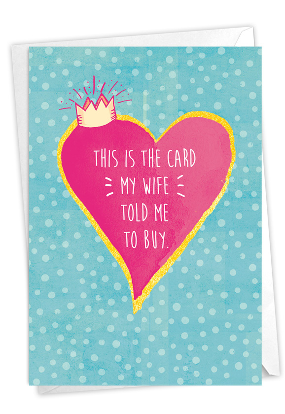 Always Right: Humorous Anniversary Paper Card