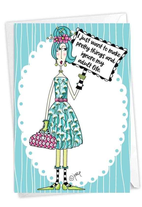 Pretty Things: Humorous Birthday Card