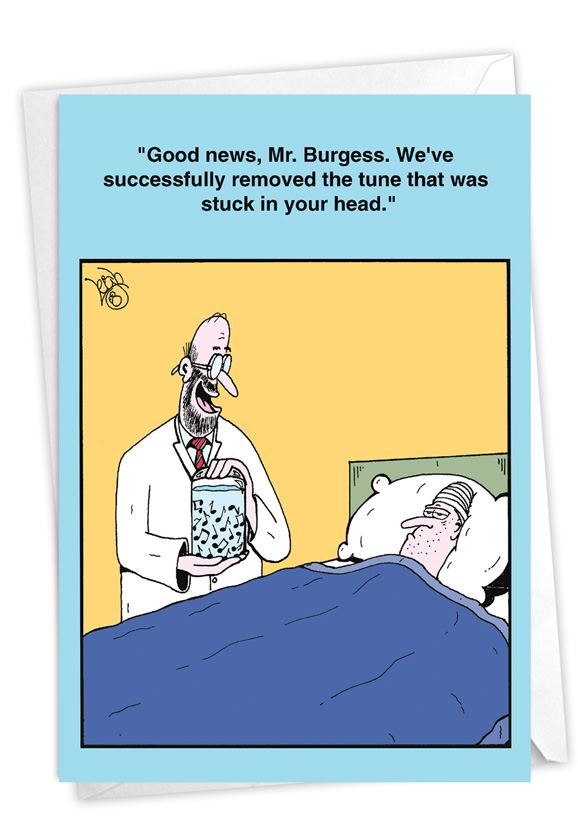 Ear Worm Operation: Hilarious Get Well Greeting Card