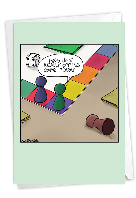 Sick Game: Humorous Get Well Paper Card