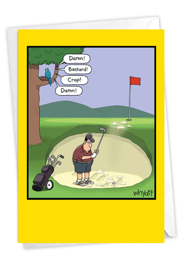 Golf Bunker: Humorous Birthday Card
