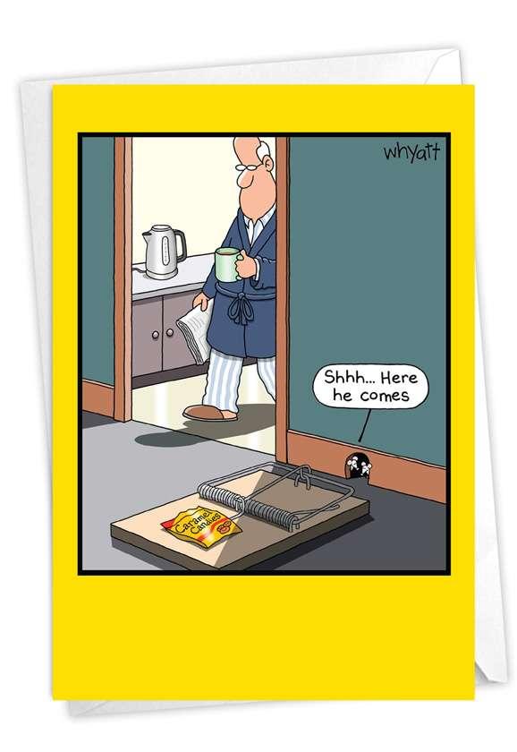 Grandpa Trap: Funny Birthday Paper Card