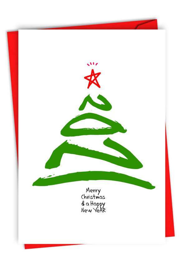 New Year's Tree - 2021: Creative Merry Christmas Greeting Card
