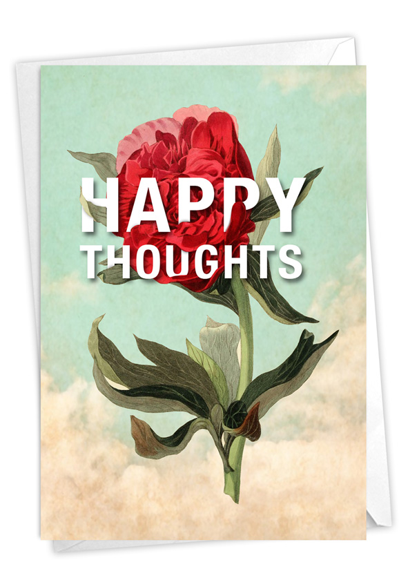 Timely Thoughts - Happy Thoughts: Creative Friendship Blank Printed Greeting Card