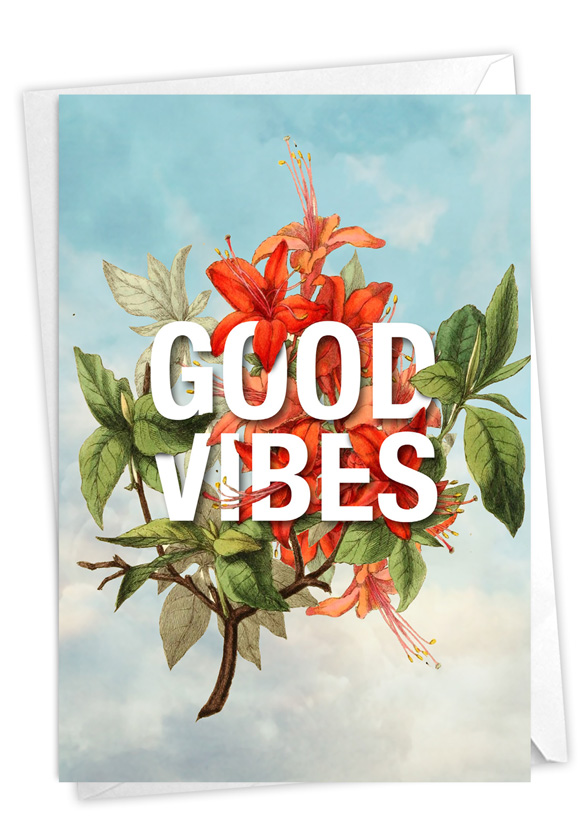 Timely Thoughts - Good Vibes: Stylish Friendship Blank Card