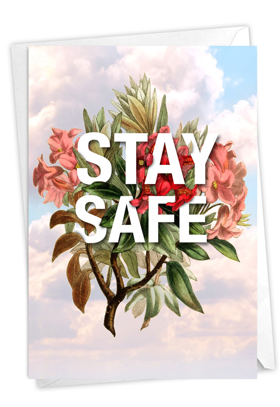Timely Thoughts - Stay Safe: Creative Friendship Blank Greeting Card