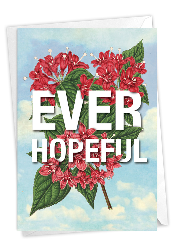 Timely Thoughts - Ever Hopeful: Stylish Friendship Blank Card