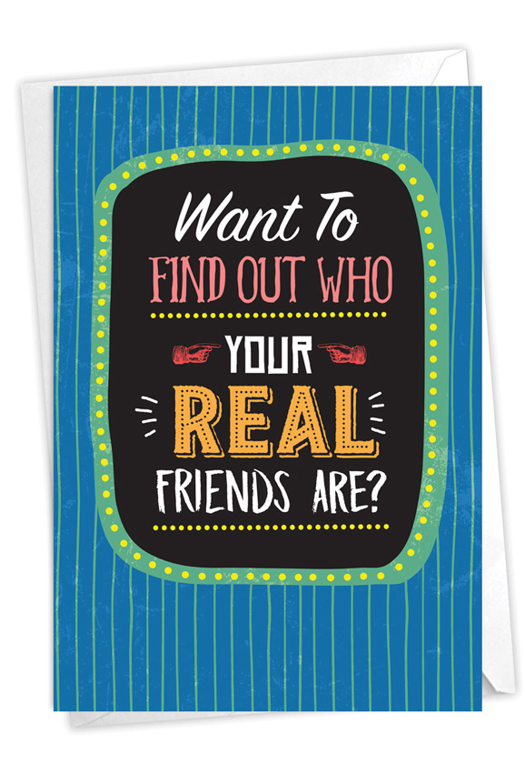 Real Friends: Humorous Birthday Card