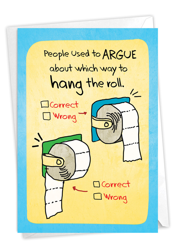 Hang The Roll: Hilarious Birthday Greeting Card