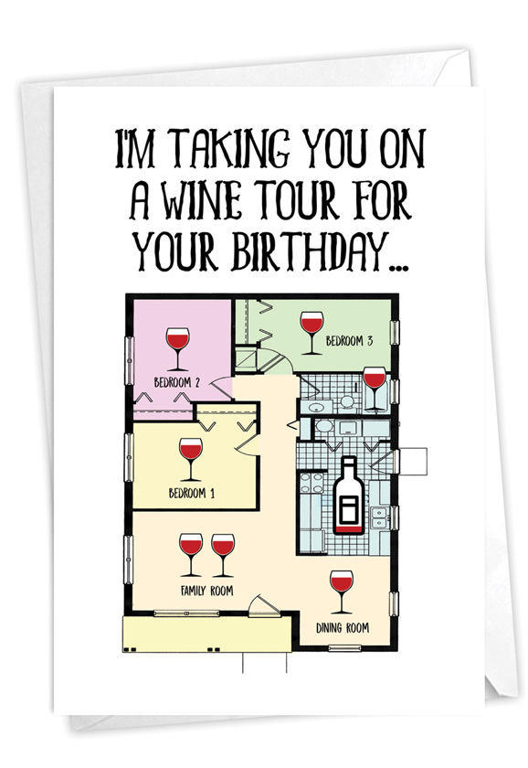 House Wine Tour: Hysterical Birthday Printed Card