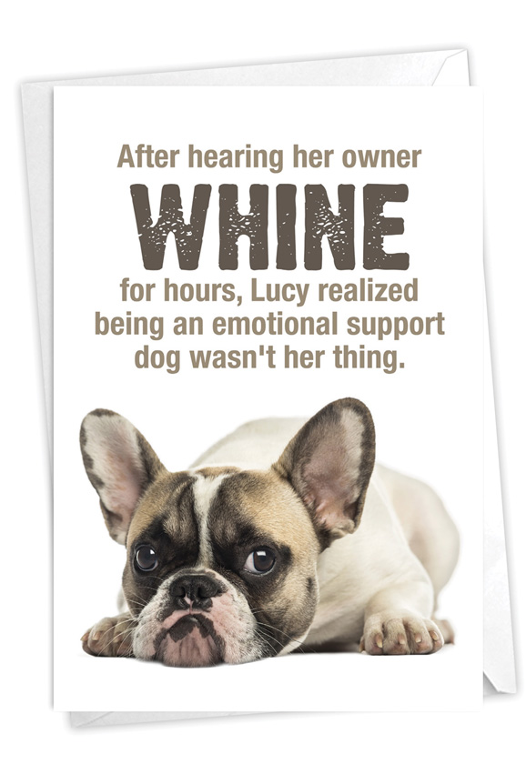 Emotional Support Dog: Humorous Birthday Card