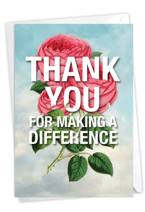 Making A Difference: Stylish Thank You Paper Greeting Card