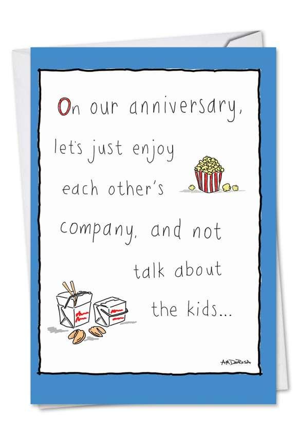 Worry-Free: Humorous Anniversary Greeting Card