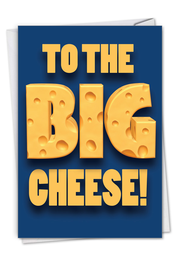 Big Cheese: Funny Boss Thank You Paper Greeting Card