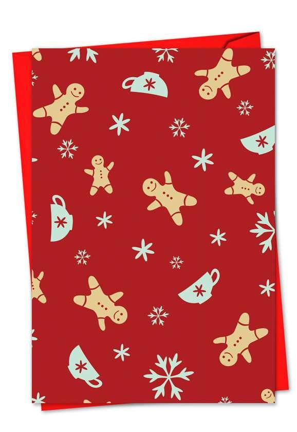 Season's Patterns: Creative Christmas Printed Greeting Card