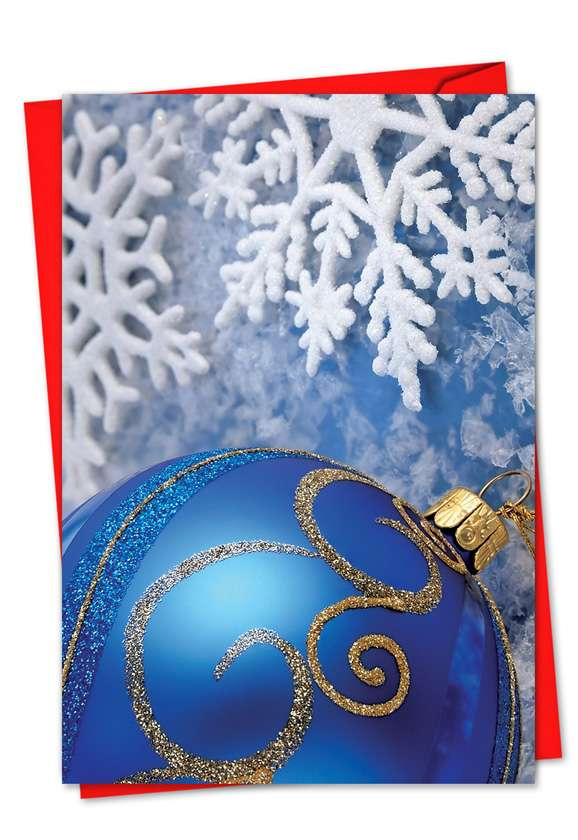 A Blue Holiday: Creative Christmas Greeting Card