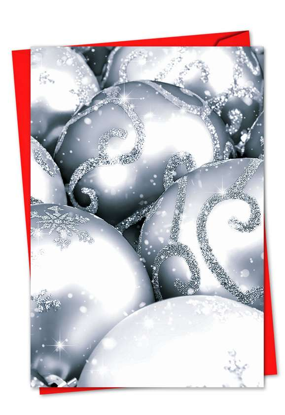 Visions In Silver: Stylish Christmas Printed Card