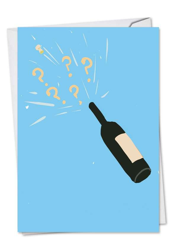 Champagne Question: Funny Engagement Printed Greeting Card