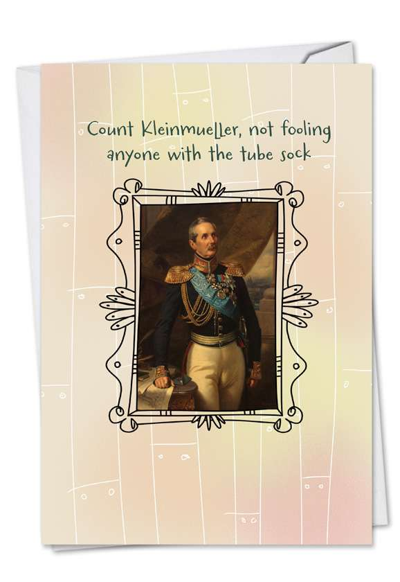 Count Kleinmueller: Hilarious Birthday Printed Card