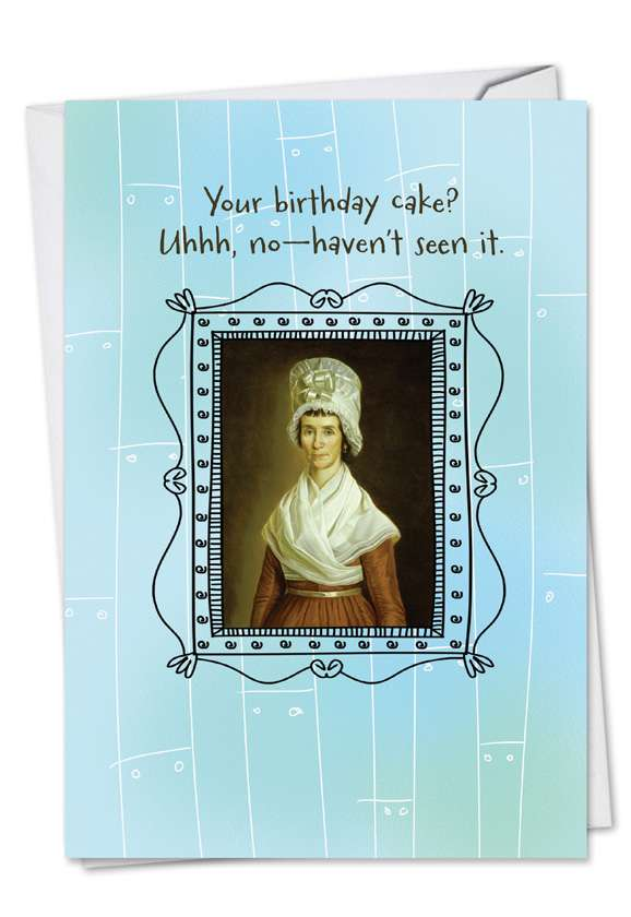 Hat's Off: Humorous Birthday Paper Greeting Card