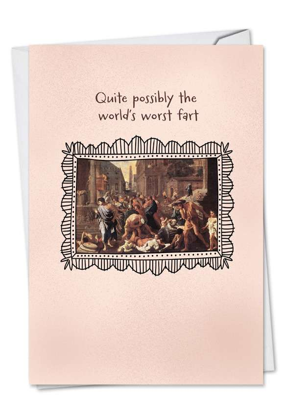 World's Worst Fart: Hysterical Birthday Printed Greeting Card