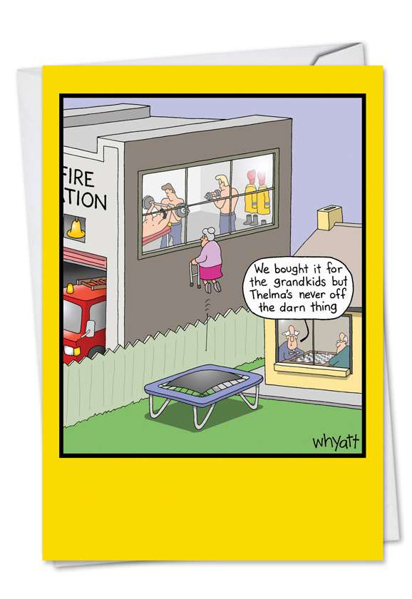 Grandma's Trampoline: Hysterical Birthday Paper Greeting Card