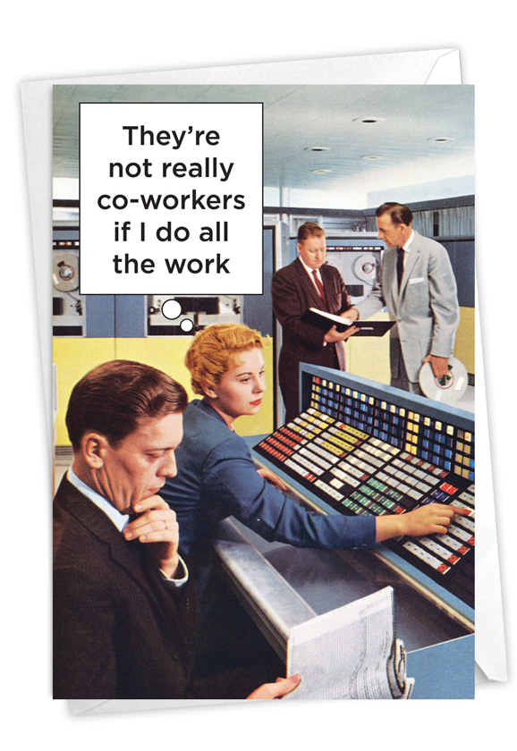 Not Really Co-workers: Humorous Administrative Professionals Day Paper Card