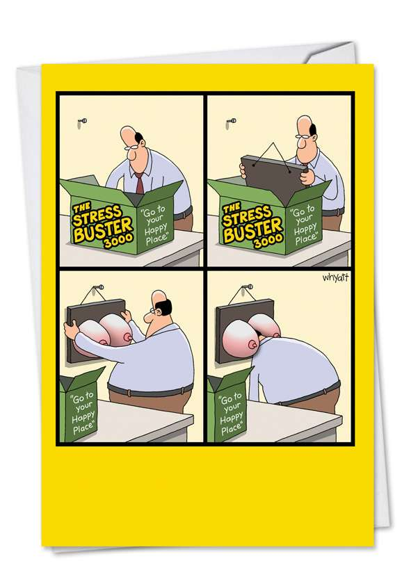 Stress Buster: Hysterical Birthday Paper Card