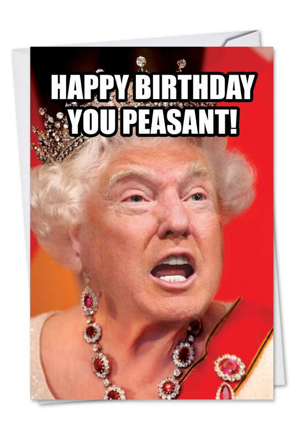 Trump Peasant Card