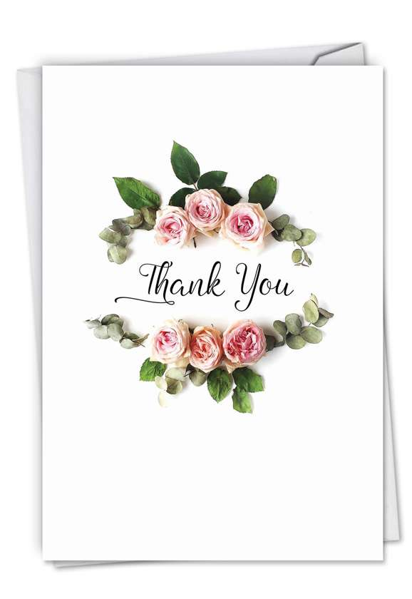 Elegant flowers: Stylish Thank You Printed Card