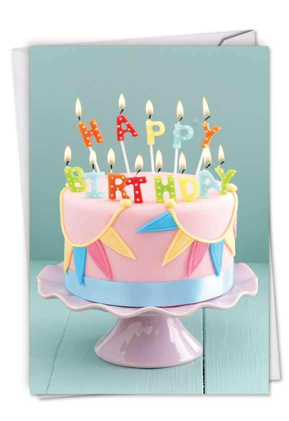 Birthday Blowouts: Stylish Birthday Printed Card