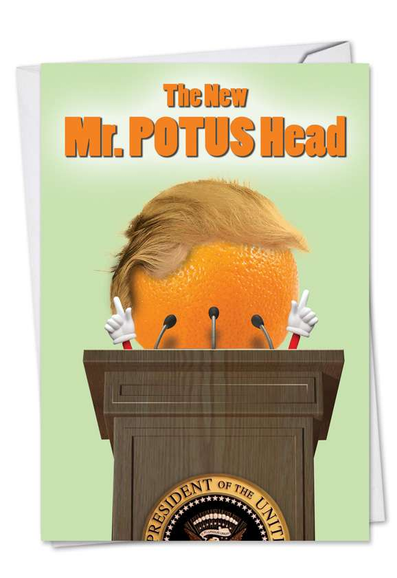Mr. Potus Head Trump Card