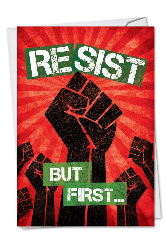 Resist: Hilarious Christmas Printed Greeting Card