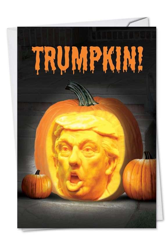 Trumpkin: Funny Halloween Printed Card