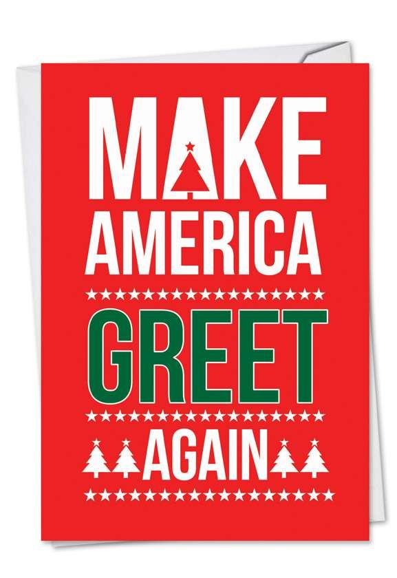 Trump Greet Again: Humorous Christmas Printed Card