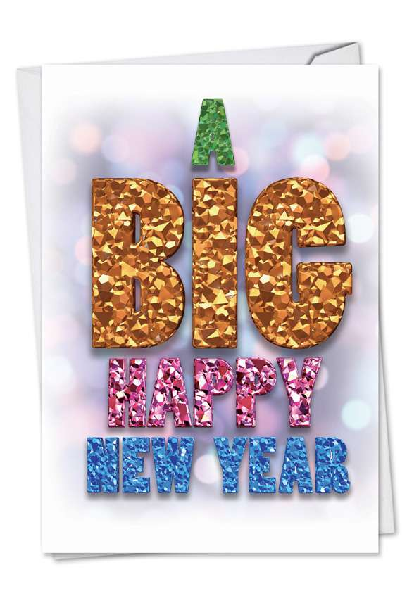 A Big Happy New Year-Festive: Funny New Year Printed Card