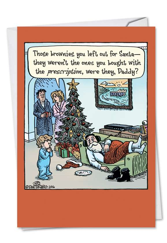 Prescription Brownies: Humorous Christmas Printed Card