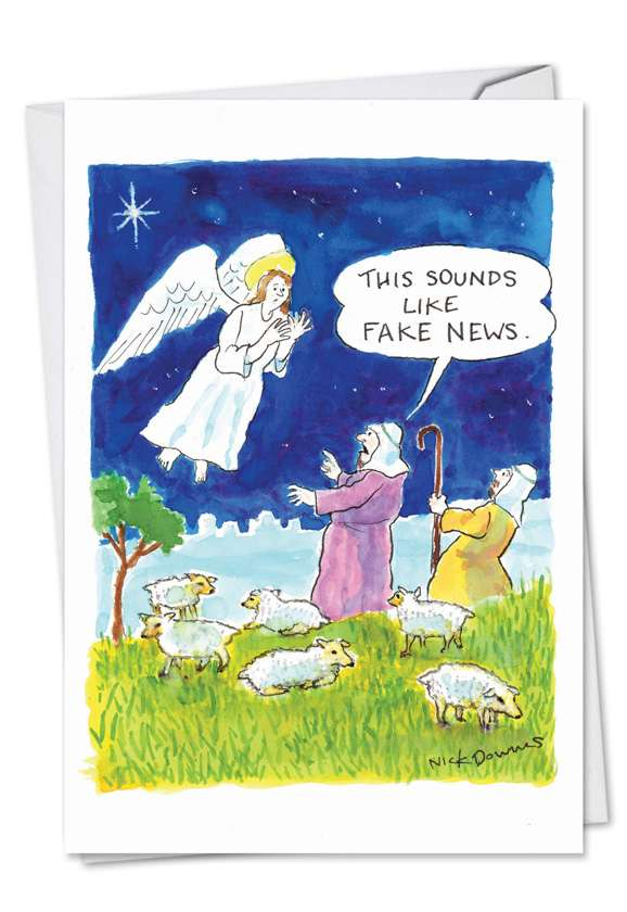 Fake News Angel: Hysterical Christmas Greeting Card