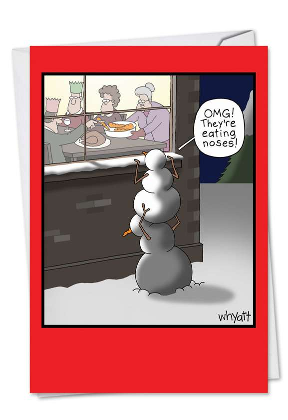 Eating Noses: Hilarious Christmas Greeting Card