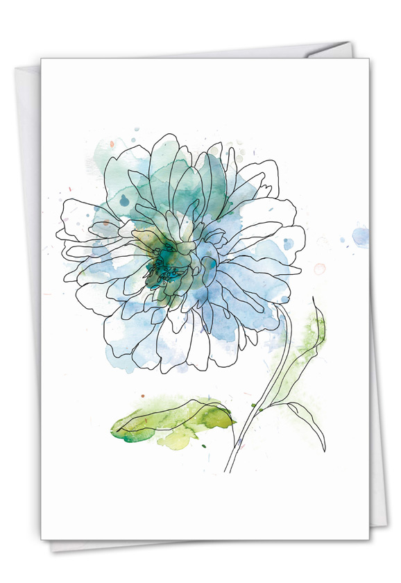 Basic Blooms: Stylish Sympathy Paper Card