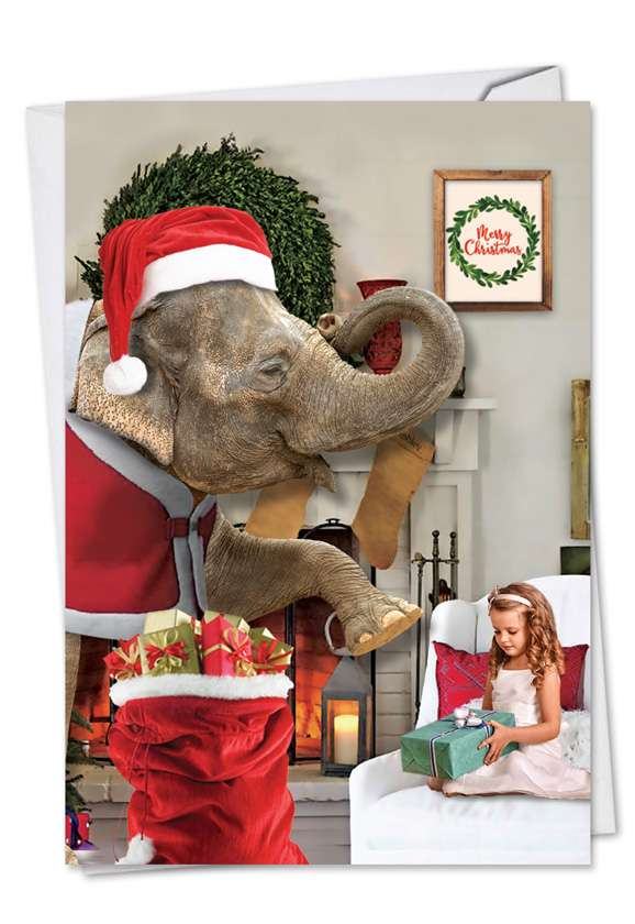 Elefantasy: Hysterical Christmas Printed Greeting Card