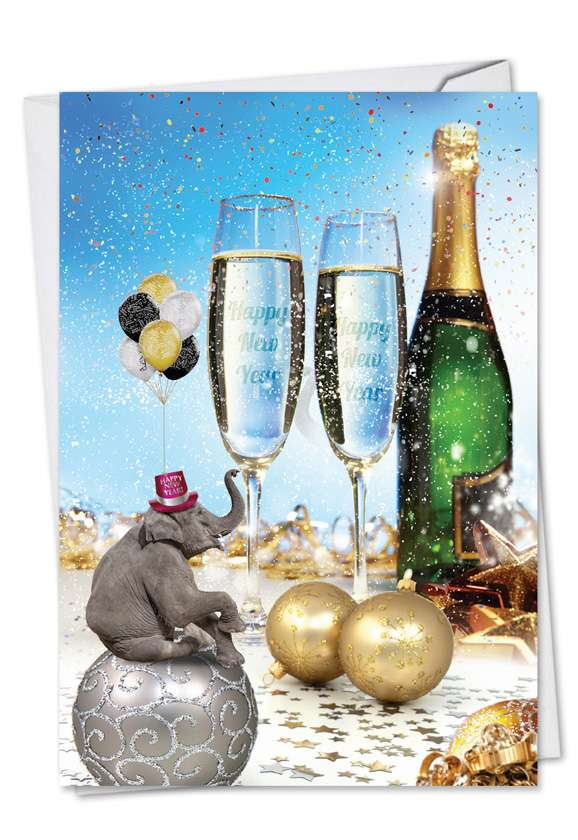Hilarious New Year Greeting Card from NobleWorksCards.com - Elefantasy